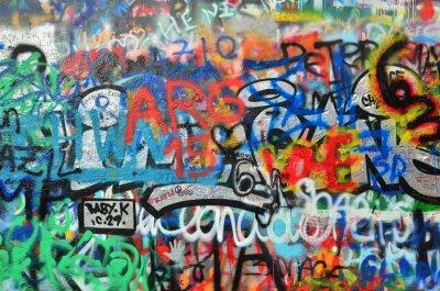 Fototapet vägg besprutas med graffiti