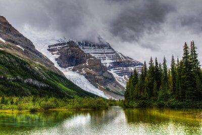 Fototapet Vandring Berg Lake Trail