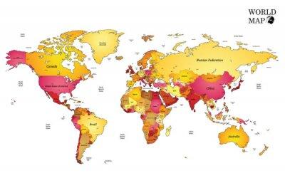 Fototapet Världskarta.