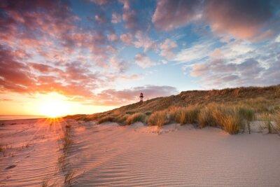 Fototapet Vårmorgon på Sylt Vadehavet