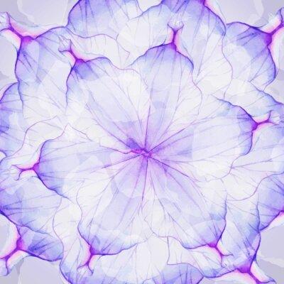 Fototapet Vattenfärg blommor runda mönster.