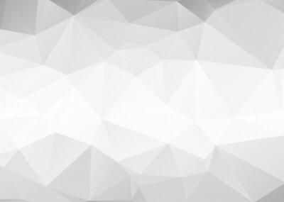 Fototapet Vector abstrakt grå trianglar bakgrund