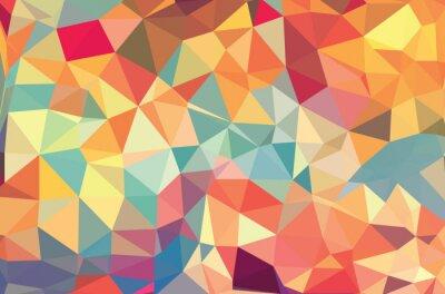 Fototapet Vector geometriska former. Färgrik bakgrund. Struktur för användning i