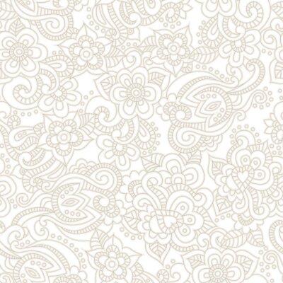 Fototapet Vector Seamless romantisk blommig bakgrund