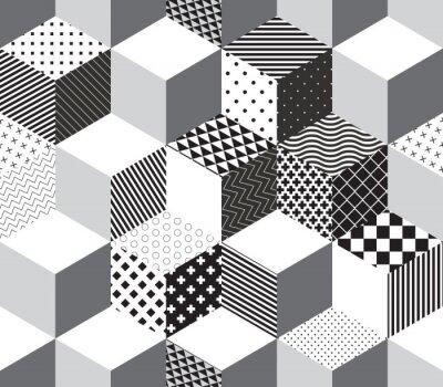 Fototapet Vektor 3d kuber mönster