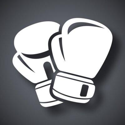 Fototapet Vektor boxhandskar ikon