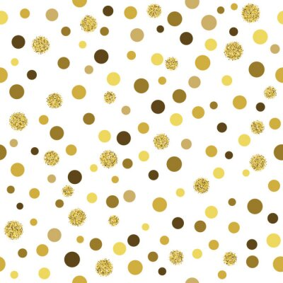 Fototapet Vektor guld glitter seamless