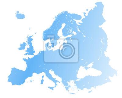 Karta Europa Tidszoner.Vektor Hog Detaljerade Europa Karta Fototapet Fototapeter Benelux