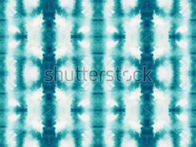 Fototapet Vektor slips färgämne sömlöst mönster. Handdraserat shibori-tryck. Bläcktexturerad japansk bakgrund. Modern batik tapet kakel. Akvarell oändlig bakgrund.