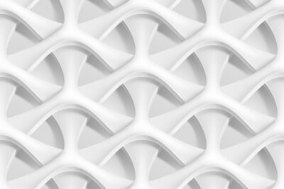 Fototapet Vektor sömlösa abstrakt geometriska 3d vågmönster