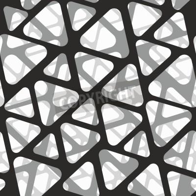 Fototapet Vektor sömlöst mönster. Modernt snyggt 3d konsistens av mesh.