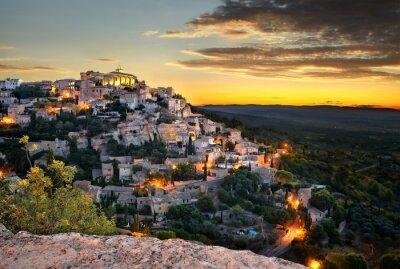 Fototapet village de Gordes en provence