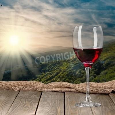 Fototapet Vinflaska, vin, flaska.