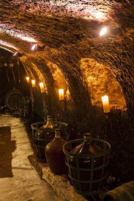 Fototapet vinkällare i Velka tRNA, Tokaj vinregionen, Slovakien