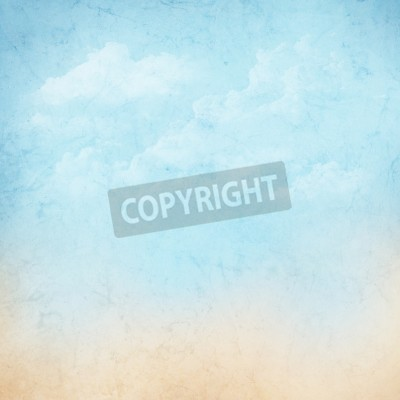 Fototapet Vintage abstrakta himmel med moln bakgrund