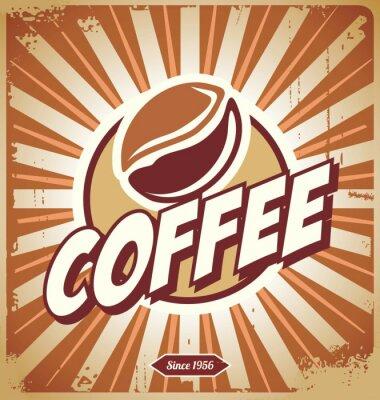 Fototapet Vintage Coffee Sign
