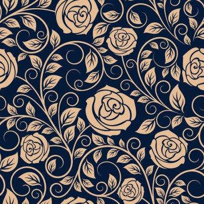 Fototapet Vintage rosor blommor seamless