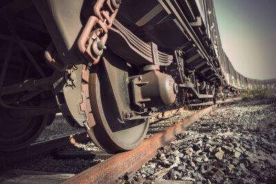 Fototapet vintage tåg