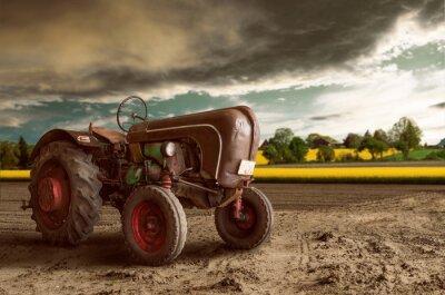 Fototapet Vintage Tractor