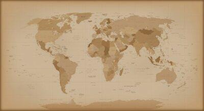 Fototapet Vintagevärldskarta