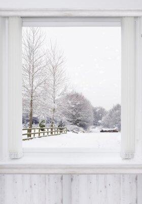 Fototapet vinterfönster