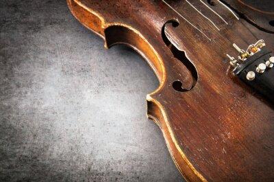 Fototapet Violin musikinstrument av orkester närbild