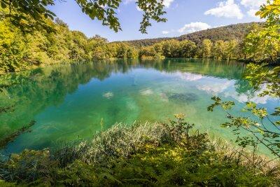Fototapet Virgin natur Plitvicesjöarnas nationalpark, Kroatien
