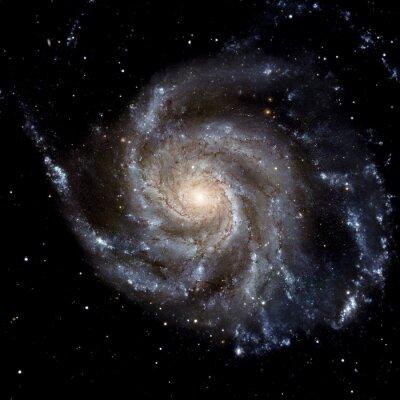 Fototapet Visa bilden av Galaxy-systemet isolerade delar av bilden som tillhandahålls av NASA