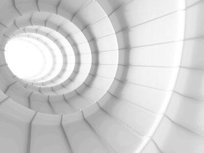 Fototapet Vit Abstrakt Tunnel design bakgrund