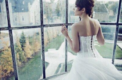 Fototapet vit bride