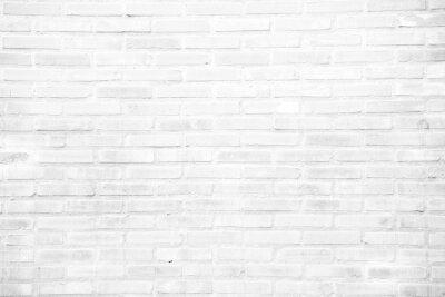 Fototapet Vit grunge tegelvägg konsistens bakgrund