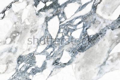 Fototapet Vit marmorstruktur med naturligt monster för bakgrund