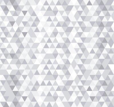 Fototapet Vit triangel kakel seamless, vektor bakgrund.