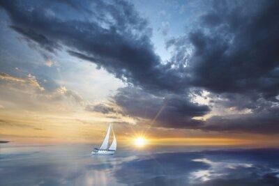 Fototapet Voilier en pleine mer