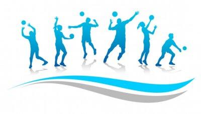 Fototapet Volleyboll - 67