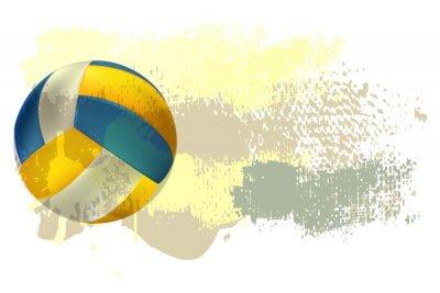 Fototapet Volleyboll Banner Alla delar är i separata lager och grupperas.