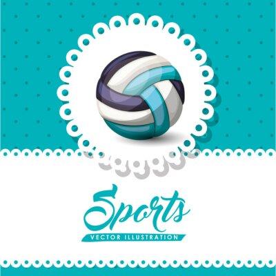 Fototapet volleyboll ligan konstruktion