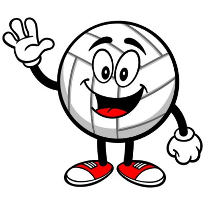Fototapet Volleyboll Mascot vinka
