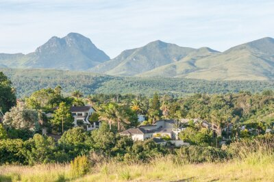Fototapet Vy över George i Sydafrika