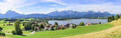 Fototapet Vy över Hopfen am See im Allgäu