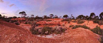 Fototapet WA Balladonia röd jord 2 Panorama