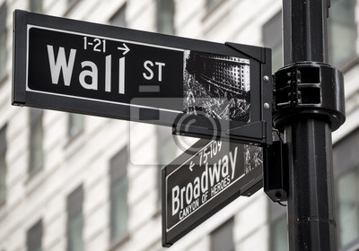 Fototapet Wall Street tecken i New York, USA.