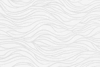 Fototapet Wavy background. Hand drawn waves. Stripe texture with many lines. Waved pattern. Line art. Black and white illustration
