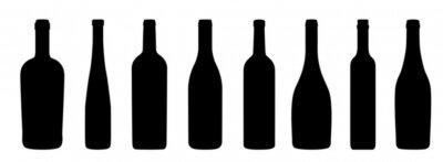 Fototapet Weinflaschen Ikoner