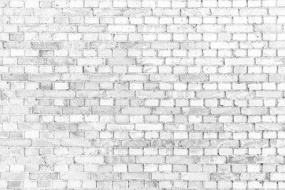 Fototapet weiße Ziegelmauer