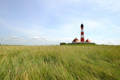 Fototapet Westerhever-fyren - Nordsjön