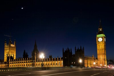 Fototapet Westminster och Big Ben på natten