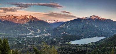 Fototapet Whistler Blackcomb solnedgång Panorama