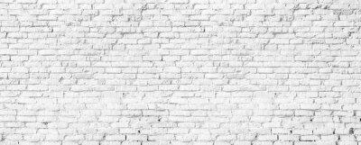 Fototapet white brick wall texture