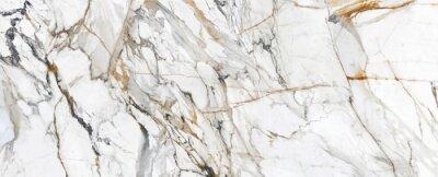Fototapet White Cracked Marble rock stone marble texture wallpaper background